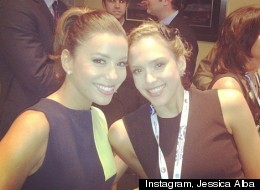Eva Longoria y Jessica Alba en la Convención Demócrata.