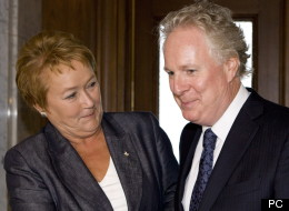 Pauline Marois et Jean Charest, le 6 septembre 2012. (PC)