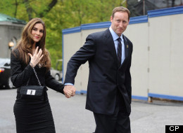 Peter MacKay arrives with Nazanin Afshin-Jam for the swearing in of the federal cabinet at Rideau Hall in Ottawa on Wednesday, May 18, 2011. THE CANADIAN PRESS/Sean Kilpatrick
