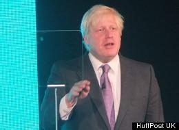 Boris Johnson at the EE launch in London