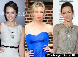 Jessica Alba, Renée Zellweger y Olivia Wilde en un vestido de Carolina Herrera.