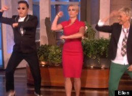 PSY teaches Ellen DeGeneres and Britney Spears the dance from his hit 'Gangnam Style.'