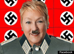Incoming Quebec Premier Pauline Marois is portrayed as Hitler in this screengrab from Facebook.