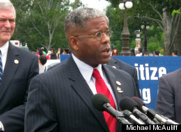 Rep. Allen West speaks at a Capitol Hill press conference in 2011.