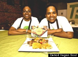 Kirsten Ussery (left) Erika Boyd (right) are semi-finalists in the 2012 Comerica Hatch Detroit contest. Their business would offer vegan versions of classic soul food dishes.