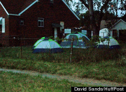 The group This Hood of Ours set up tents, held cookouts and screened movies in a Detroit community as part of their efforts to transform the neighborhood.