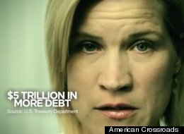 Deanna Moffitt appeared in an American Crossroads ad after the super PAC bought her footage from a stock video site.