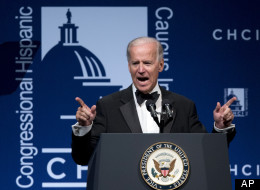 Vice President Joe Biden speaks at the Congressional Hispanic Caucus Institute's 35th anniversary awards gala in Washington, Thursday, Sept. 13, 2012. (AP Photo/Manuel Balce Ceneta)