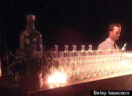 A bartender prepares for a late night at 'Imagining the Lowline'