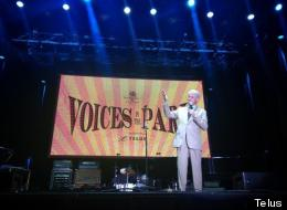 Former President Bill Clinton speaks at Voices In The Park in Vancouver. (Telus)
