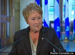 Pauline Marois lors de ses annonces, le 20 septembre 2012. (Radio-Canada.ca)