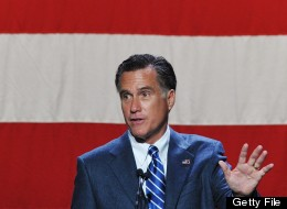 Republican presidential candidate Mitt Romney makes speaks at a fundraiser at The Beverly Hilton Hotel in Beverly Hills, California September 22, 2012. (MANDEL NGAN/AFP/GettyImages)
