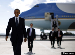 Barack Obama devant Air Force One