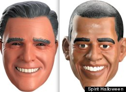 Two costume companies say that sales of presidential-themed masks are good indicators of who will win the November election. So far, Obama is in the lead.