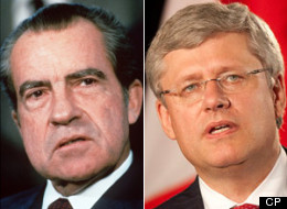 Stephen Harper has been awarded the Richard Nixon Prize for his work protecting the 'rich and powerful.' (CP)