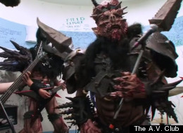GWAR covers Kansas in The A.V. Club's Chicago office.