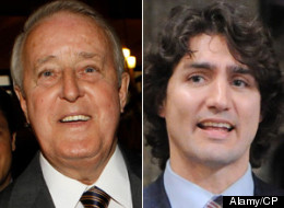 Former prime minister Brian Mulroney warned against underestimating Justin Trudeau's political capabilities as the Quebec MP made his first campaign stop for the federal Liberal leadership in Calgary on Wednesday. (Alamy)