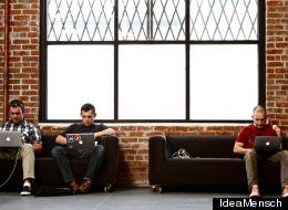 Entrepreneurs helping entrepreneurs: the Idea Mensch team hard at work.