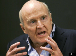 Former General Electric CEO Jack Welch addresses students at the Massachusetts Institute of Technology, in Cambridge, Mass. , Sept. 27, 2006. Welch seemed to imply that September's jobs numbers were skewed in a tweet Friday.