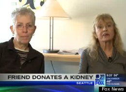Terri Teas, right, will receive a kidney from her friend Judie Wolfe, left, on Oct. 8