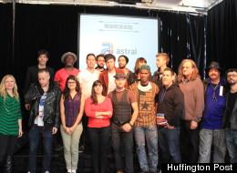 Quelques artistes présents lors de la conférence. (Huffington Post Québec / Myriam Lefebvre)