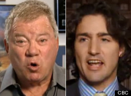 William Shatner gave Justin Trudeau some acting tips on Tuesday night's episode of 22 Minutes. (CBC)