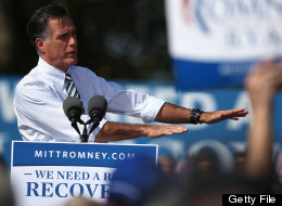 CHESAPEAKE, VA - OCTOBER 17: Republican presidential candidate former Massachusetts Gov. Mitt Romney speaks to supporters during a campaign rally at Tidewater Community College on October 17, 2012 in Washington, D.C. (Photo by Mark Wilson/Getty Images)