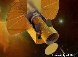 Artist's impression of ESA's CHEOPS satellite.