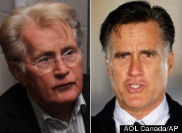 Martin Sheen didn't have much nice to say about Mitt Romney during an interview at Calgary's We Day event. (AOL Canada/AP)