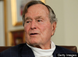 Former President George H.W. Bush endorsed Tommy  Thompson's bid for Wisconsin's open U.S. Senate seat on Oct. 28, 2012. (Photo by Tom Pennington/Getty Images)