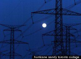 hurricane sandy toronto outage