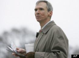 U.S. Rep. Dan Lipinski, D-Ill., at a commuter train station in Berwyn, Ill., Monday, Jan. 14, 2008. (AP Photo/Brian Kersey)