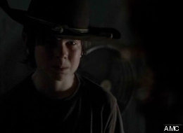 After Lori gives birth, son Carl is forced to shoot her in
