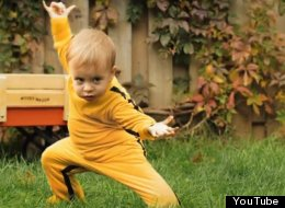 Dragon Baby Romeo Elvis Bulte Boivin has some serious kung fu moves.
