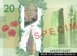 On Wednesday, the Bank of Canada will begin circulating a new $20 bill made of polymer instead of paper. (Photo: Bank of Canada handout)