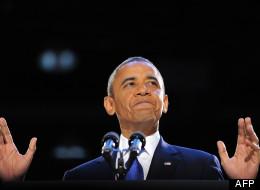 Barack Obama lors de son discours de réélection, le 6 novembre 2012. (AFP)