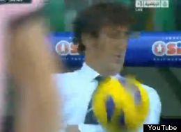 Ciro Ferrara recibió tremendo golpe en la cara
