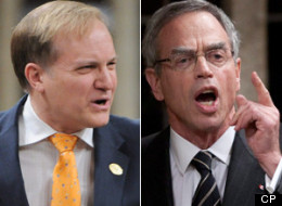 NDP natural resources critic Peter Julian is slammed the government and Natural Resources Minister Joe Oliver for spending on ads touting the government's environmental record. (CP)