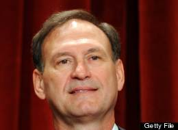 US Supreme Court Associate Justice Samuel Alito Jr. participates in the courts official photo session on October 8, 2010 at the Supreme Court in Washington, DC. ( TIM SLOAN/AFP/Getty Images)