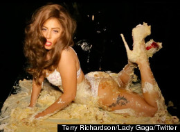 Lady Gaga tweets some risque photos and video before a concert.
