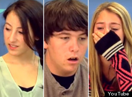 A video posted Sunday films the reactions of teens watching Amanda Todd's YouTube video. (YouTube)