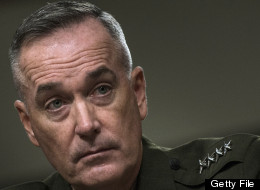US Marine General Joseph F. Dunford, Jr. listens to a question during a confirmation hearing of the Senate Armed Service Committee on Capitol Hill November 15, 2012. (BRENDAN SMIALOWSKI/AFP/Getty Images)