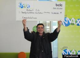 Rob Erb, a Terrance, B.C. man who won a $25-million Lotto Max jackpot in November, has been giving sizable donations to his community. (Facebook)