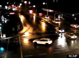 RCMP released video of a hit and run accident where two joggers were struck by an SUV. (RCMP)