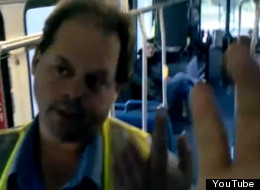 An unidentified Kamloops bus driver has been suspended with after a video was uploaded Tuesday. (YouTube)