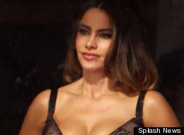 Sofia Vergara on set of