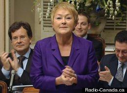 Pauline Marois à l'Assemblée nationale, le 7 décembre. (Radio-Canada.ca)