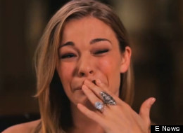 LeAnn Rimes breaks down during an interview with E!'s Giuliana Rancic.