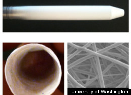 Research at the University of Washington has lead to the development of a dissolving condom. (Photo via UW)