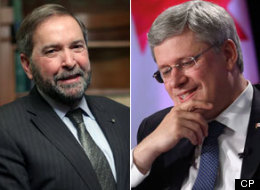Tom Mulcair boasts that he often sounds more like a conservative than Prime Minister Stephen Harper. (CP)